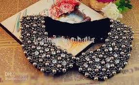 accessories collar necklace images 2018 rhinestone beaded peter pan collar necklace fake collar jpg