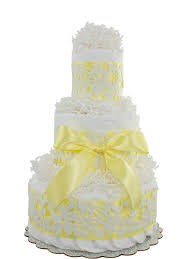 yellow lace 3 tier diaper cake baby shower diaper cakes unique