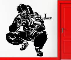 speical home decor wall stickers vinyl decal army special forses