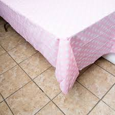 Light Pink Table Cloth Baby Shower Table Covers Baby Shower Mania
