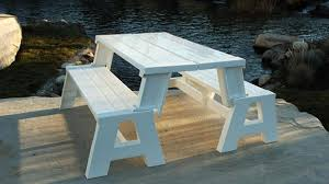 picnic table converts to bench benches that turn into a picnic table simplemost