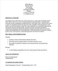 Resume For Computer Teacher 40 Fresher Resume Examples