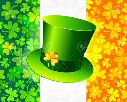 Green Day Flag Saint Patrick S Hat On Irish Flag Made From Lucky Magic Clovers