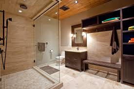 Travertine Bathrooms Vein Cut Travertine Bathroom Traditional With Archway Drawer