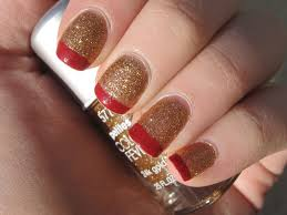 nail designs with red and gold image collections nail art designs