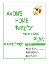 home party plans avon home party plan