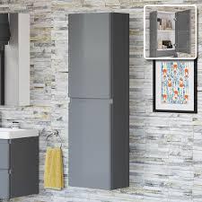 Bathroom Furniture Storage Modern Grey Gloss Basin Sink Bathroom Vanity Unit Furniture