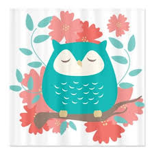 Owl Fabric Shower Curtain 20 Best Owl Shower Curtains Images On Pinterest Owl Shower