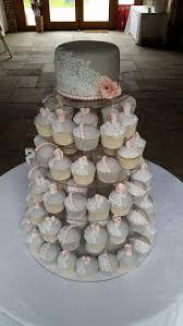 dusky pink and grey wedding cupcakes rustic wedding cakes