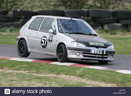 peugeot silver silver peugeot 106 lifts a rear wheel at harewood hillclimb leeds