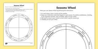 seasons wheel worksheet activity sheet australia seasons