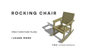 Free Plans For Outdoor Wooden Chairs by Free Diy Furniture Plans How To Build A Rocking Chair The