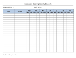 Schedule Spreadsheet Excel The 25 Best Cleaning Schedule Templates Ideas On