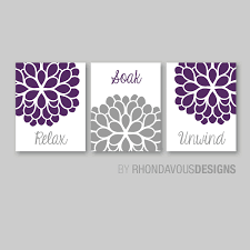 Lavender Bathroom Ideas Bathroom Decor Bathroom Art Relax Soak Unwind Flower