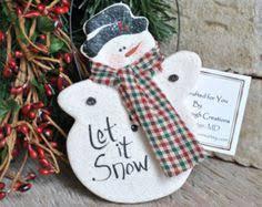 handmade godparents gift salt dough snowman ornament salt dough