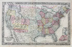 Map Of Usa During Civil War by Map Of The United States And Territories Together With Canada