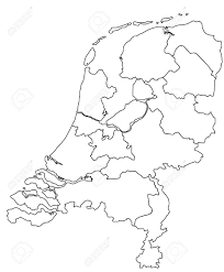 Map Netherlands Vector Map Of Holland Royalty Free Cliparts Vectors And Stock