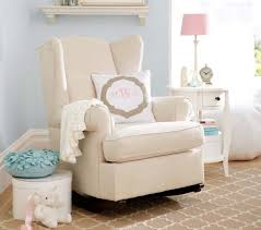 Nursery Upholstered Rocking Chairs by Rocking Chair Style Wingback Convertible Rocker Pottery Barn