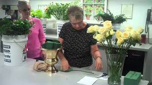 Flower Arranging For Beginners Altar Flower Arrangement Step One Youtube