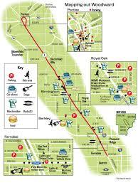 Maps Michigan Login by Map Woodward Dream Cruise Locations