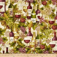 vineyard collection wine collage ivory discount designer fabric