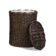 space saving laundry hamper oval wicker laundry hamper the basket lady