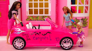 barbie toy cars barbie dolls car wash toys skipper chelsea and stacy decorate
