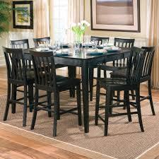 black counter height table set amazon com 9pcs contemporary black counter height dining table 8