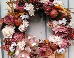 Mauve Home Decor Cream Wreath Etsy