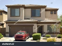 modern twostory single family house garage stock photo 65067250