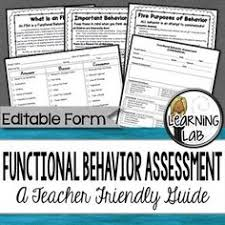 functional behavior assessment fba pinterest functional