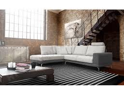 matière canapé canapé bi matière ub design angle gauche avec tetiere gris