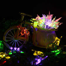 Solar Powered Patio Lights String by Multi Color Party Lights 40 Led Fairy Butterflies Lighting Party