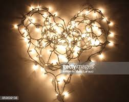 heart shaped christmas lights heart shaped christmas lights lit up in the dark stock photo getty