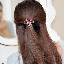 hair barrette vintage women gem butterfly flower hairpins hair barrette