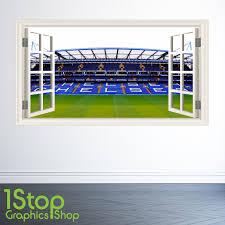 chelsea stickers ebay chelsea football stadium wall sticker window full colour bedroom w173