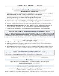 Resume Template It It Director Sample Resume Sample It Resume It Resume Writing