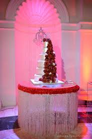 Red White  Bling For This Fairytale Wedding Cake Design By - Cake table designs