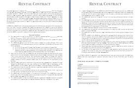 rental agreement template rental property lease agreement template