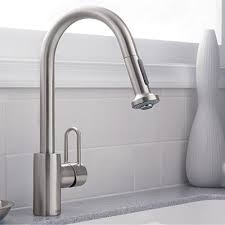 hansgrohe cento kitchen faucet solid brass steel optik hansgrohe metro e high arc kitchen faucet with 2 function pull down