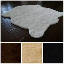 best white fur rug products on wanelo
