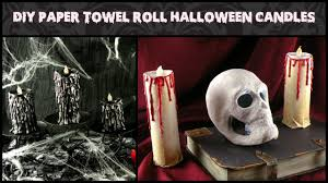 halloween candels diy paper towel roll halloween candles how to make halloween