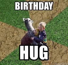 birthday hug rugby alpaca meme generator