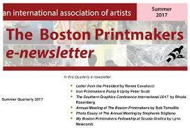 newsletters u2013 the boston printmakers