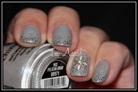 new year u0027s nails china glaze pelican gray
