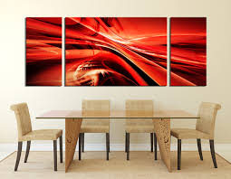 3 piece canvas wall art modern multi panel canvas red canvas