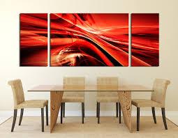 3 piece canvas wall art modern multi panel canvas red canvas 3 piece wall art dining room wall art red wall decor modern canvas