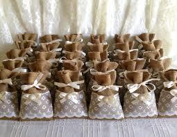 burlap wedding favor bags 50 filled potpourri lace covered burlap favor bags wedding