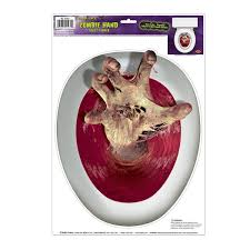 amazon com zombie hand peel u0027n place toilet topper kitchen u0026 dining