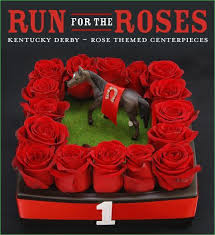 Red Roses Centerpieces Red Rose Centerpiece Inspired By The Kentucky Derby Winner U0027s Circle